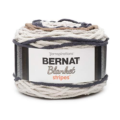 Bernat Blanket Stripes Yarn, 10.5 oz, Gauge 6 Super Bulky Chunky, Buffed Stone