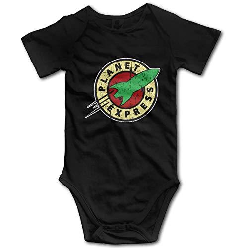 EU Planet Express Romper Body para bebé recién Nacido Mono de Novedad Onesies para bebé Negro 12 Meses