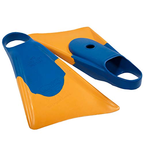 Churchill Makapuu Floating Fins | Comfortable Fit Fin Flippers | Patented Dolphin Tail Swimfins for Thrust and Performance | Made of 100% Natural Gum Rubber | Swimming, Diving, Surfing, Bodyboarding
