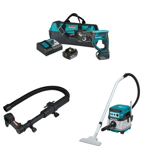 Best Price Makita XRH03T 18V LXT 7/8-Inch Rotary Hammer Kit, 193472-7 Dust Extraction Attachment, XC...