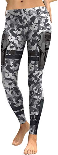Dames yoga broek camouflage stretch panty digitale print legging D1804