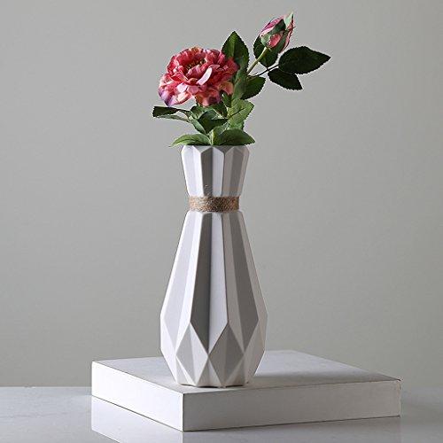 Vase Meters de Chanvre Nordique Simple Origami créatif Fleur de Fleurs de Fleurs Salon Restaurant de Bureau Petits Ornements Frais Ornements (Couleur : avec des Fleurs)