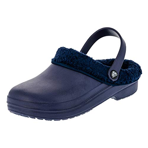 2Surf Gefütterte Damen Clogs Garten Schuhe Freizeit Pantoffel in vielen Farben M272bl Blau 36 EU