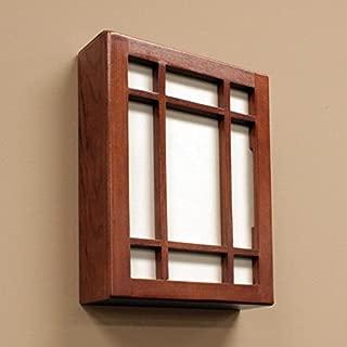 Hampton Bay HB-7611-02 Wireless or Wired Door Bell, Medium Cherry Wood
