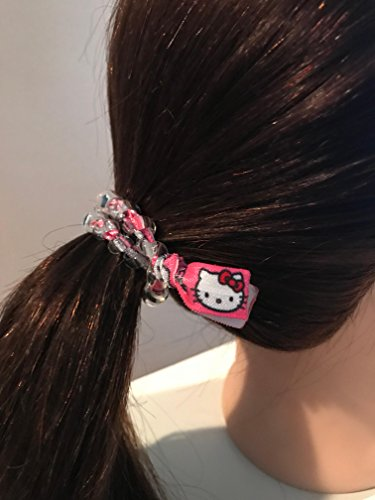 Hello Kitty pink secure sports hair tie hair cord hair elastic for all pony tail types messy buns