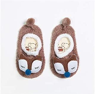 Lovely Socks Children Cotton Socks Kids Spring and Autumn Cotton Anti-Slip Floor Socks (Brown) Newborn Sock (Color : Brown)