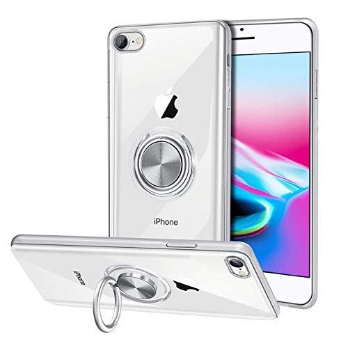 KONEE iPhone SE ケース 第2世代 / iPhone 8 ケース/iPhone 7 ケース スマホリング クリア TPU+PC素材 リン...