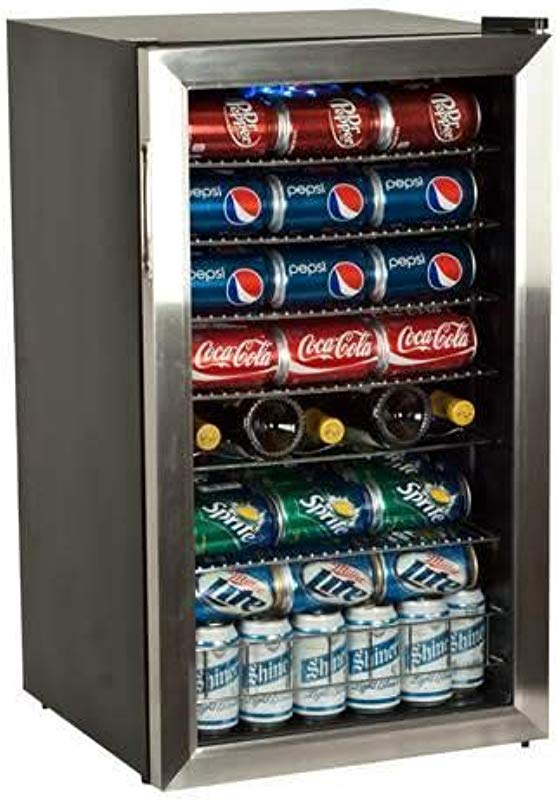 EdgeStar 103 Can And 5 Bottle Extreme Cool Beverage Cooler Stainless Steel