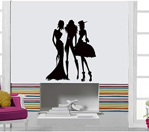 Vinyl Muursticker Kleding Winkel Raam Winkelcentrum Schilderij Home Decoratie Behang 57X70Cm