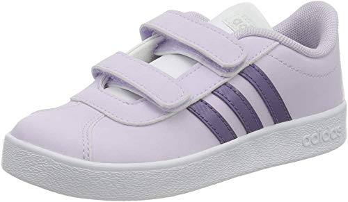 adidas VL Court 2.0 CMF I, Zapatillas Bebé-Niños, Purple Tint/Tech Purple/FTWR White, 23 EU