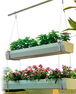 Bio Blooms Agro India Private Limited Window Hanging Planter, 3 Steps Hanging with Two Hooks Bio_603_1