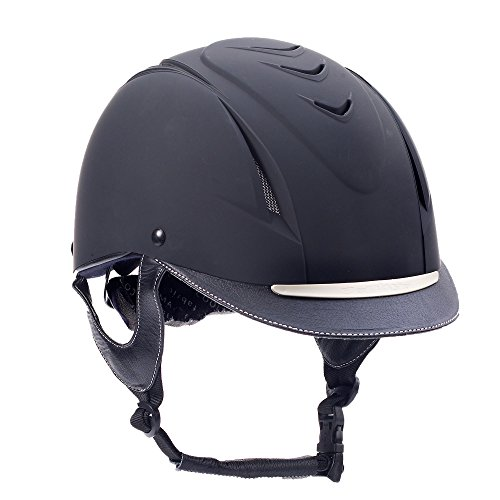 Ovation Unisex Z-6 Elite Riding Helmet, Black, Medium/Large