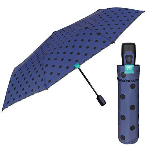 Paraguas Plegables Pequeña Mujer - Resistente Antiviento de Fibra de Vidrio - Paraguas Ligero...