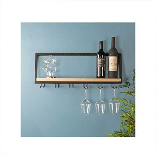 Porta bicchiere da vino Lin, calice in ferro battuto mensola rovesciata portabicchieri da vino semplice da appendere a parete