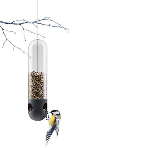 EVA SOLO EV571043 Vogelfutterröhre, Mit Aufhänger, Volumen 650 ml, transparent/schwarz