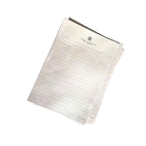 YeahiBaby 50 hojas de Papel de estraza,papel vintage de la escritura papel retro Kraft fijado,21x15cm,modelo al azar