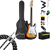 Donner DST-102S Electric Guitar Kit + 20 ft Guitar Cable