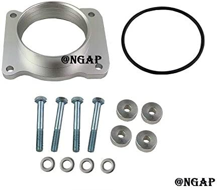 Silver Billet Throttle Body Popular popular Spacer Challenge the lowest price For S 2004-10 10 F-150 5.4L
