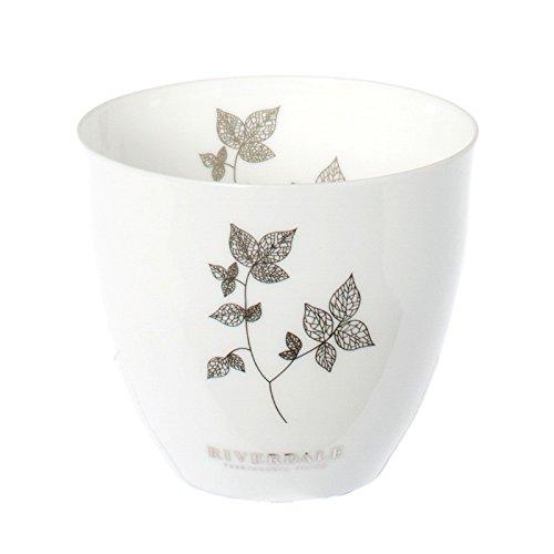 Riverdale Windlicht Leaves Silber metallic - Blätterzweig - 8 cm - Teelichthalter - Dekoidee - Lichtstücke - Weihnachten - Herbst - Geschenkidee
