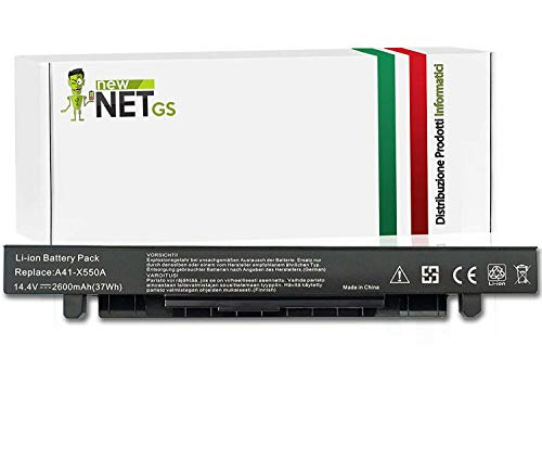 New Net Batteria A41-X550A compatibile con PC Notebook Asus Series F450V F450VC F450VE F452C F452CA F452E F452EA F452EP F452VP F550 F550C F550E F550L