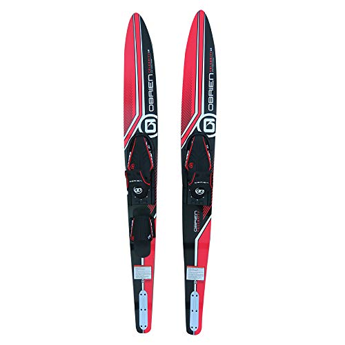 """O'Brien Celebrity Combo Water Skis, Red, 68"""""""