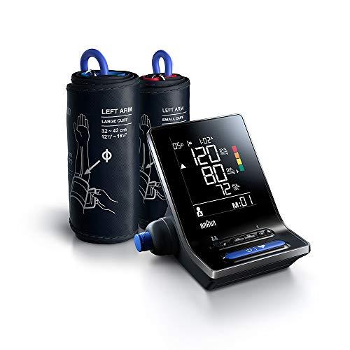 Misuratore intelligente della pressione sanguigna per braccio per uso domestico Braun ExactFit 5 Connect BUA6350 con 2 misure del bracciale e Bluetooth