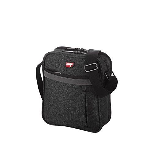 Von Cronshagen Tablet Tasche 9,7 Zoll universal, Umhängetasche wasserabweisend, robuste & gepolsterte Schultertasche, iPad, Überschlagtasche für Damen & Herren (grau)