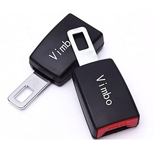 Hebillas de coche universales - 2 piezas (lengüeta de metal de 7/8') Hebillas de extensión de coche con certificación de seguridad Tapones de alarma para coche