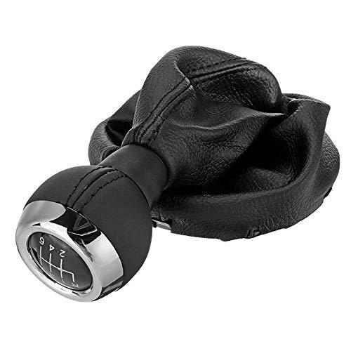 LKJsagd 6-Gang-Schaltknauf + Staubschutz, Für Mini Cooper R55 R56 R57 R58 R59 R60 R61