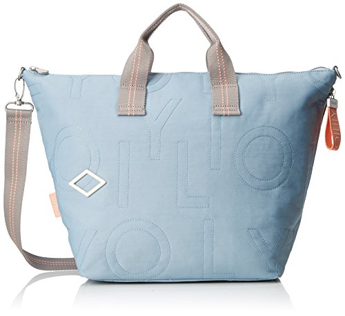 Oilily Damen Spell Handbag Lhz Henkeltasche, Blau (Light Blue), 18x33x51 cm