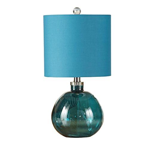 &die Tischleuchte Tischlampe Blau Glas Schreibtisch Licht Schlafzimmer Nachttischlampe Wohnzimmer Studie Eye Protection Leuchten ( Farbe : Blau )