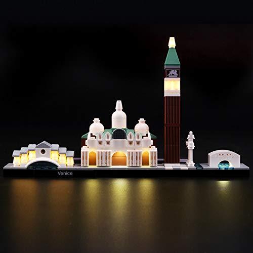 Kit De Iluminación Led para Lego Architecture Venice, Compatible con Ladrillos De Construcción Lego Modelo 21026 (NO Incluido En El Modelo)