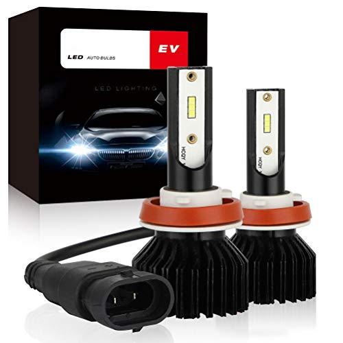 Faros delanteros LED H4 H7 para automóviles, Bombilla para faros delanteros LED para automóviles, Bombillas de luz antiniebla blanca, Baja potencia a prueba de agua, Bombilla antiniebla automática