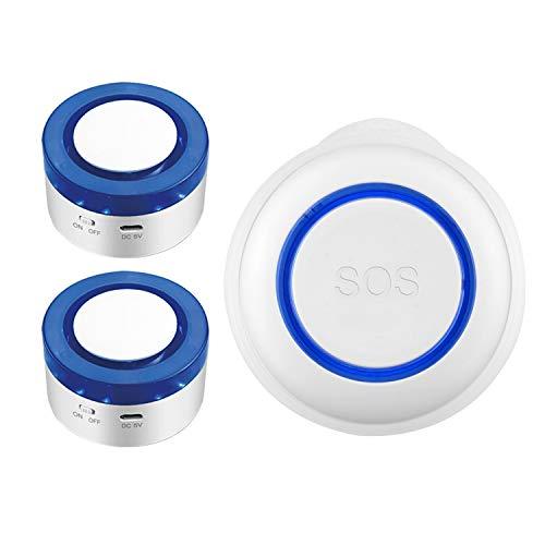 Mifive BotóN de Emergencia WiFi SOS Conjunto de Alarma Inteligente Wifi Sensor de Alarma para el Hogar, Adecuado para la Seguridad de los Ancianos y los Ni?Os