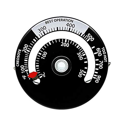 RoxTop Aluminium Kamin Thermometer Magnet Nahrungsmittelfleisch Thermometer Rotary Ofen-Thermometer-Küche Haushalts-Thermometer Schwarz-Weiss