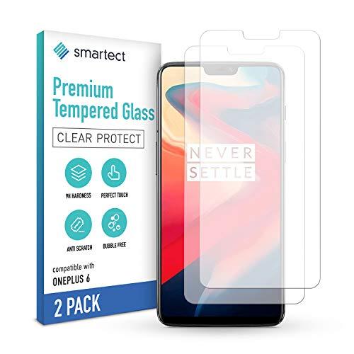 smartect Pellicola Protettiva per OnePlus 6 [2 Pezzi] - 9H Vetro Temperato Proteggi Schermo - Design Ultra Sottile - Applicazione Anti-Bolle - Anti-Impronte