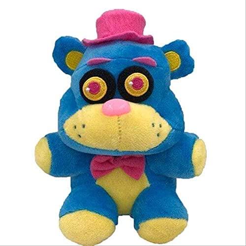 Stuffed Toys 18cm Five Nights at Freddy's Phantom Foxy Plush Doll Stuffed Toy Children Great Gifts 18cm Blue Yellow Bear