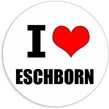 I love Eschborn stickers in 2 maten verkrijgbaar meerkleurige sticker Decal 8 x 8 cm