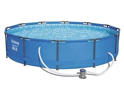 Bestway Steel Pro Zwembadset met pomp en accessoires 12 ft x 30inch Blauw