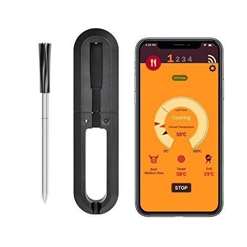 HomeLifairy IP67 Wasserdicht Wireless Digital Fleischthermometer für Ofen Grill Küche BBQ Smoker Kochen Thermometer mit Bluetooth-Konnektivität
