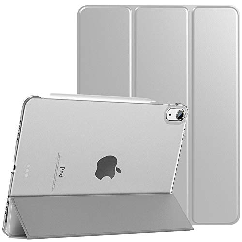 TiMOVO Case for New iPad Air 4th Generation, iPad Air 4 Case (10.9-inch, 2020), [Support 2nd Gen Apple Pencil Charging] Slim Stand Protective Cover Shell with Auto Wake/Sleep - Silver