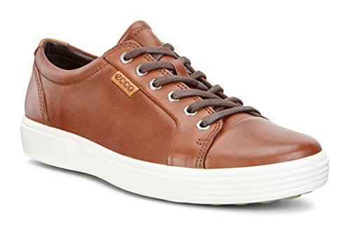 ECCO mens Soft 7 Fashion Sneaker, Mahogany Nubuck, 12-12.5 US