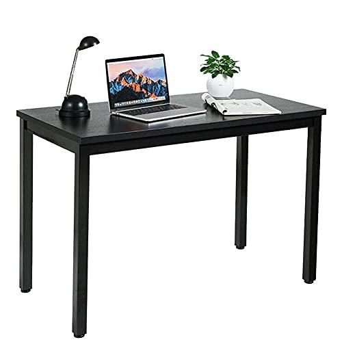 Mesa moderna para computadora de 40 pulgadas, escritorio de escritura, para casa, oficina, ordenador, fácil de montar, color negro