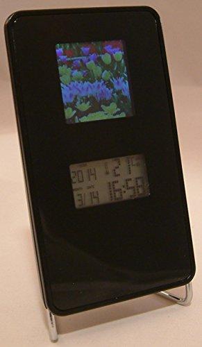 Digitaler Bilderrahmen Büro Uhr Wecker Thermometer Kalender