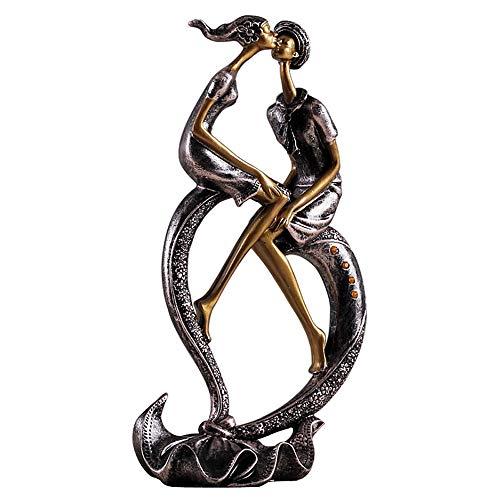 CL-* Artisanat - Couples en Forme de Coeur Nordique Ornements décoratifs Accessoires pour la Maison créative Artisanat de Salon Cadeaux de Mariage Décoration de la Maison