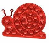 CLEMARS Juguete Antiestrés Sensorial Mejora Concentración Focus Juego Explotar Burbujas Autismo Ansiedad Fidget Niños Necesidades Especiales Relajante Divertido Entretenimiento (CARACOL)