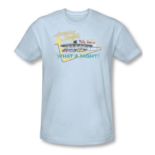 American Grafitti - Drive de Mel hommes en t-shirt bleu clair -, Large, Light Blue