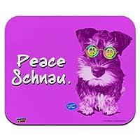 マウスマット、ピースシュナウシュナウザー子犬犬レトロロープロファイル薄型マウスパッドマウスパッド、ゲーミングマウスパッド 18x22cm
