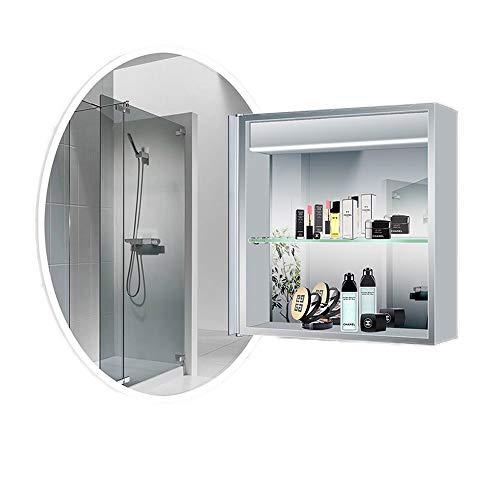 Mirror JIE AJS Makeup Hänge-Smart-seitigen Spiegelschrank Badezimmereitelkeit Spiegelschrank | Wandspiegel Toilette Toilettenschrank Spiegelschrank Mit Lichtspiegel A+ (Size : 70cm)
