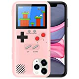 Playable Gameboy Case for iPhone 6P/6SP/7P/8P, Retro 3D Shockproof Gameboy Cover Case with 36 Classic Games, Handheld Color Screen Video Game Console Case for iPhone